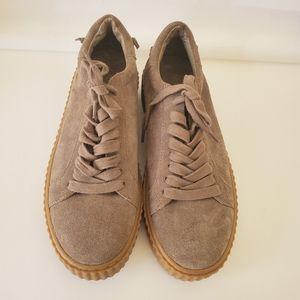 J slides parker suede platform sneakers shoes sz 8